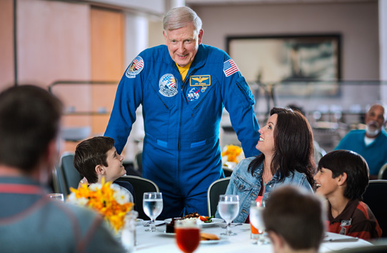 Lunch With An Astronaut f 1 1 - NASA Space Center.  Restaurant  Area 100