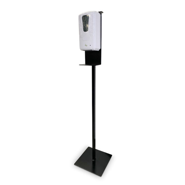 desinfection station plus hands gel sanitizer dispenser 2 630x630 - Metal Floor Stand And Touch Free Dispenser(Combo)
