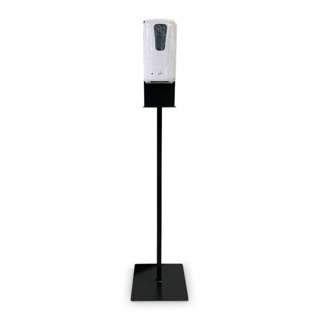 desinfection station plus hands gel sanitizer dispenser 3 630x630 - Metal Floor Stand And Touch Free Dispenser(Combo)