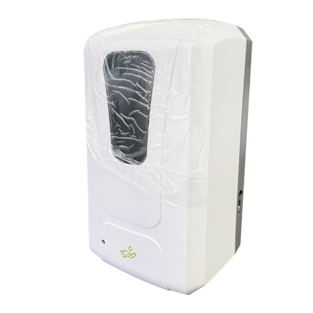 hands gel sanitizer dispenser 1 630x630 - Wall Mount Automatic Gel Hand Sanitizer Soap Dispenser in White