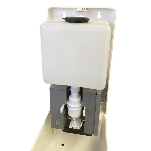 hands gel sanitizer dispenser 4 1 630x630 - Wall Mount Automatic Gel Hand Sanitizer Soap Dispenser in White
