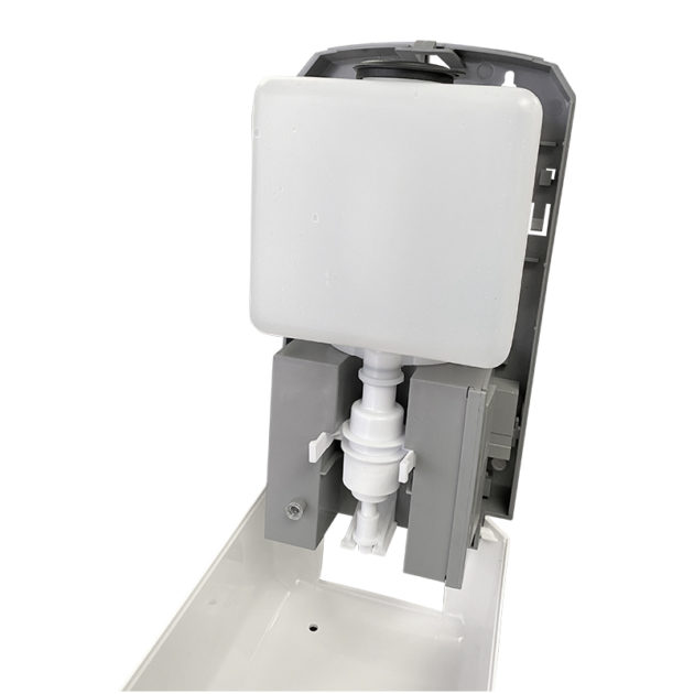 hands gel sanitizer dispenser 4 630x630 - Wall Mount Automatic Gel Hand Sanitizer Soap Dispenser in White