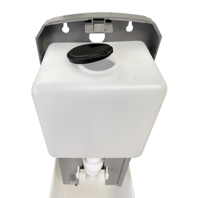 hands gel sanitizer dispenser 6 630x630 - Wall Mount Automatic Gel Hand Sanitizer Soap Dispenser in White