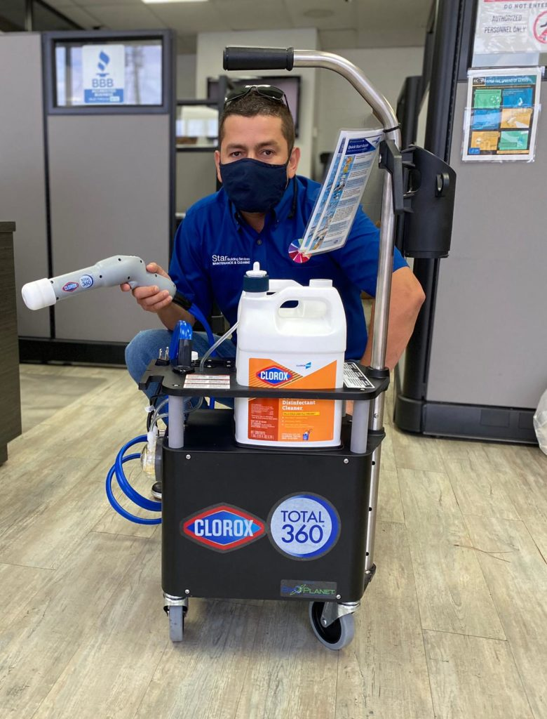 Clorox total 360 for disinfection service 780x1024 - Electrostatic Disinfection Service